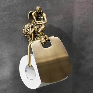 ロマンチックシリーズブロンズ浴室トイレットペーパーホルダー壁掛けタオルバートイレブラシホルダー浴室アクセサリーMB-0810B
