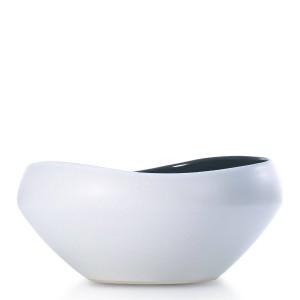 半光沢のあるセラミックフルーツボウル装飾的なセンターピースセラミックボウルフルーツサラダのサービングに最適ユニークなモダンなデザイン