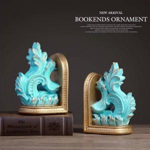 ヴィンテージブック終了装飾ブックエンド装飾樹脂手描きの彫刻家の装飾用卓上工芸ブックエンド用ギフト