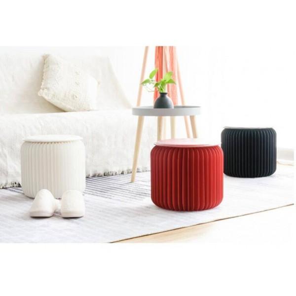 Sgabello moderno in carta pieghevole compatto, robusto e portatile struttura a nido d'ape sgabello basso sedia per camerino, sale espositive