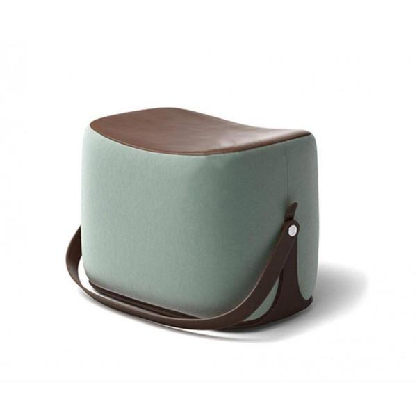 Pouf poggiapiedi pouf piccola sella cambio scarpe sedile corto flanella PU cartone animato in legno massello sella sgabello poggiapiedi con maniglia