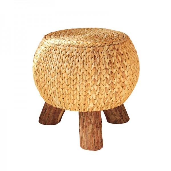 Rattan fatto a mano rustico poggiapiedi rotondo famiglia multifunzionale in legno 3 gambe portatile poggiapiedi pouf poggiapiedi regalo confortevole