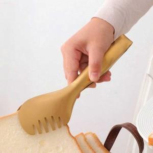 1 pz acciaio inossidabile pinza per alimenti multifunzione utensile da servizio pane insalata bistecca barbecue clip strumenti di cottura accessori da cucina