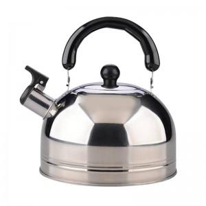 2.5L Whistling Water Kettle Cooker Addensare Acciaio inossidabile Fischio Tè Caffè Bollitore Bottiglia d'acqua per il campeggio di viaggio