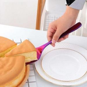 2 pezzi taglierina lama in acciaio inossidabile bordo seghettato torta server con coltello torta pala torta pizza cucina cottura spatole di pasta