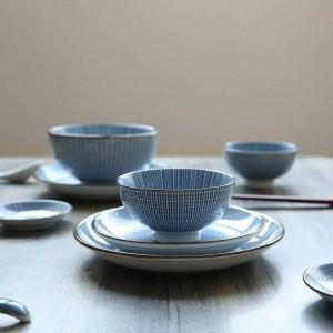 Servizio da tavola per 2 persone Set di stoviglie in ceramica in stile giapponese tinta unita sotto piatti smaltati 12Head