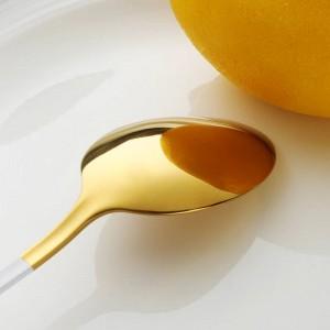 Set di stoviglie in acciaio inossidabile da 4 pezzi Cucchiaio da forchetta pesante Cucchiaio da cucina Posate in oro Set di posate da tavola in acciaio inossidabile 304
