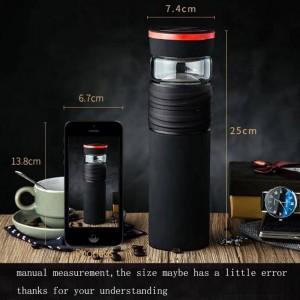 Flaconi per thermos in acciaio inossidabile da 550 ml per uomini creativi con aspiratore per auto Bottiglia dritta per trasporto facile / Bicchieri per la casa