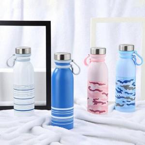 Thermos a doppia parete portatile da 600 ml Thermos isolato in acciaio inossidabile Bottiglia da acqua Thermos Tazza Tazza da viaggio Sport