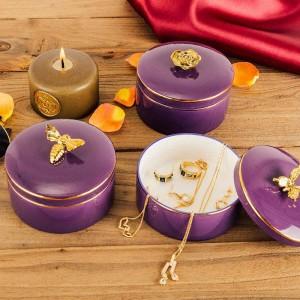 Bee Jewelry Box Collana Ring Jar Jar Bracciale europeo Scatola di immagazzinaggio Regali per fidanzate