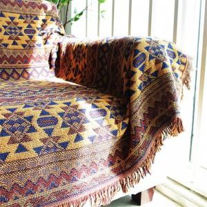 Boemia Coperte vintage per letti Cobertor Coperta da tiro Manta Victoria Copridivano Copriletto Geometrica Ondulazione Asciugamano Coperta