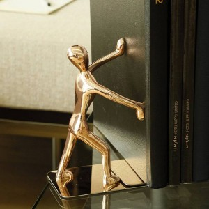 Cartella in metallo Personalità creativa Europea Kung Fu Libro Block Cartella per libri Rose Gold Vintage Home Decor