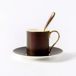 Piattino tazza di caffè Nordico stellato Phnom Penh Tazza di caffè Cucchiaio Piatto Pomeriggio inglese Fiore Tè Tazza di tè rossa