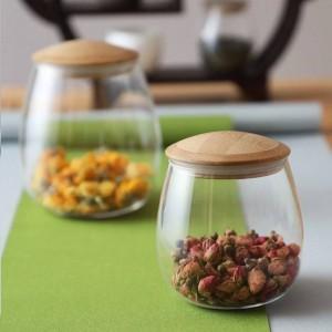Barattolo di vetro creativo Spezie Barattoli di vetro borosilica con coperchio Cucina sigillata Bottiglia di stoccaggio Caffè Zucchero Contenitore sfuso Lattine di caramelle
