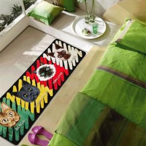 Carino Comet Man Mats Personalità Cartoon Pattern Pads Cucina creativa Tappeto Porta Polvere Zerbino Tappeti domestici Tappeto da bagno