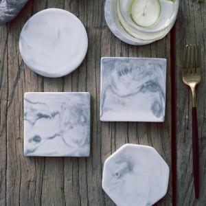 Modello in marmo europeo Sottobicchiere in ceramica Tazza da caffè Tappetino da tè Tappetino da pranzo Tovagliette da tavola rigide Accessori per la decorazione della tavola