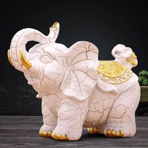 Mestieri decorativi della decorazione della tavola della casa della stanza di studio della scatola di tessuto dell'elefante decorativo europeo creativo retro