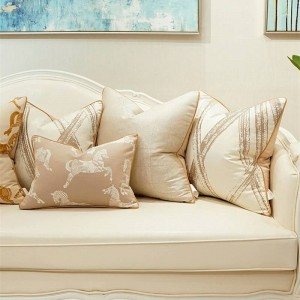 Fodera per cuscino Jacquard di alta precisione Decorazioni di lusso Cuscini Coprisedie Cojines Decorativos Para Cuscini per divani Housse De Coussin
