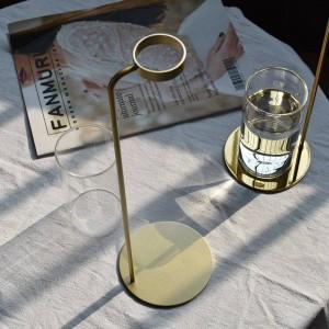 Ornamenti per la decorazione domestica di vasi creativi da tavolo in metallo per vaso idroponico