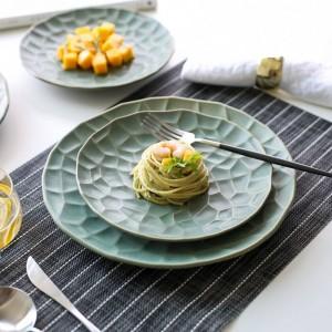 Piatto da cucina in ceramica creativa giapponese Art Western Dish Steak Plate da cucina