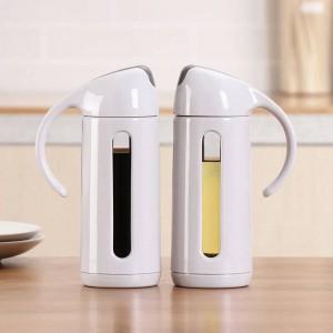 Prodotti per la cucina Bottiglia di olio in vetro Olio per uso domestico Serbatoio a tenuta stagna Salsa di soia Aceto Bottiglia di olio Dispenser Forniture per cucina