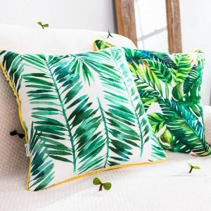 Fodera per cuscino di lusso di marca Pianta tropicale Foglia Fenicottero Cuscini decorativi Custodia Almofadas Cojines Divano Copridivano per auto