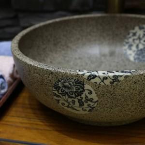 Mini lavabo in ceramica Lavabo da appoggio fatto a mano Lavandino Lavabo in ceramica piccolo 30CM / 35CM