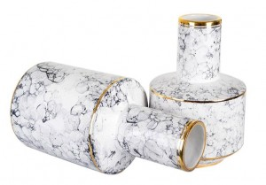Regalo morbido della decorazione di situazione della decorazione della casa di modello del vaso ceramico di lusso moderno leggero