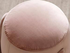 Pouf basso multifunzionale portatile da interno con poggiapiedi imbottito sgabello imbottito pouf rotondo moderno in tessuto con maniglie