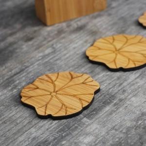 Sottobicchiere in bambù naturale set tondo creativo tovaglietta tazza tappetino tazze di caffè porta copos decorazione domestica piattino Isolamento