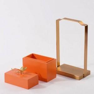 Nuovo stile Semplice e moderno Scatola di immagazzinaggio Decorazione Camera modello Scatola di gioielli creativa Soggiorno Arredamento morbido per la casa