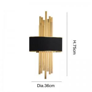 Nuove lampade da parete a LED classiche Lampada da parete a LED a parete in metallo placcato oro chiaro montata a parete e27