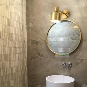 Lanterna da parete da lettura in ottone nordico Lampada da comodino moderna in seta dorata da letto Lampada da comodino Lampade da specchio per trucco Lampade da parete per la casa