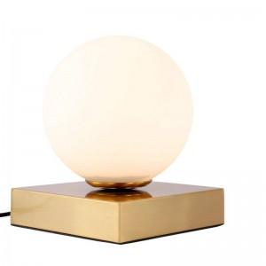 Lampada da tavolo post moderna a LED Lampada E14 creativa Lampada da tavolo in vetro bianco paralume lampada da ufficio semplice luce decorazione personalità