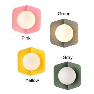 Lampada moderna da parete amaretto post bella verde giallo semplice creativo led comodino decorazione luce soggiorno corridoio lampada E27