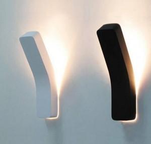 Lampada da parete a proiezione moderna post bianco nero semplice creativo comodino decorazione luce soggiorno corridoio applique da parete