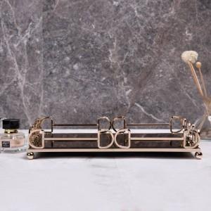 Vassoio rettangolare semplice Home Decor Set da tè desktop Vassoio portaoggetti Bagno Vassoio per cosmetici