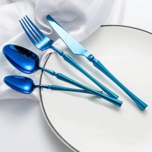 Stoviglie occidentali Set di stoviglie di lusso Coltelli Forchette Cucchiai Cucchiaini Set da pranzo classico Set da pranzo per feste Strumenti da pranzo