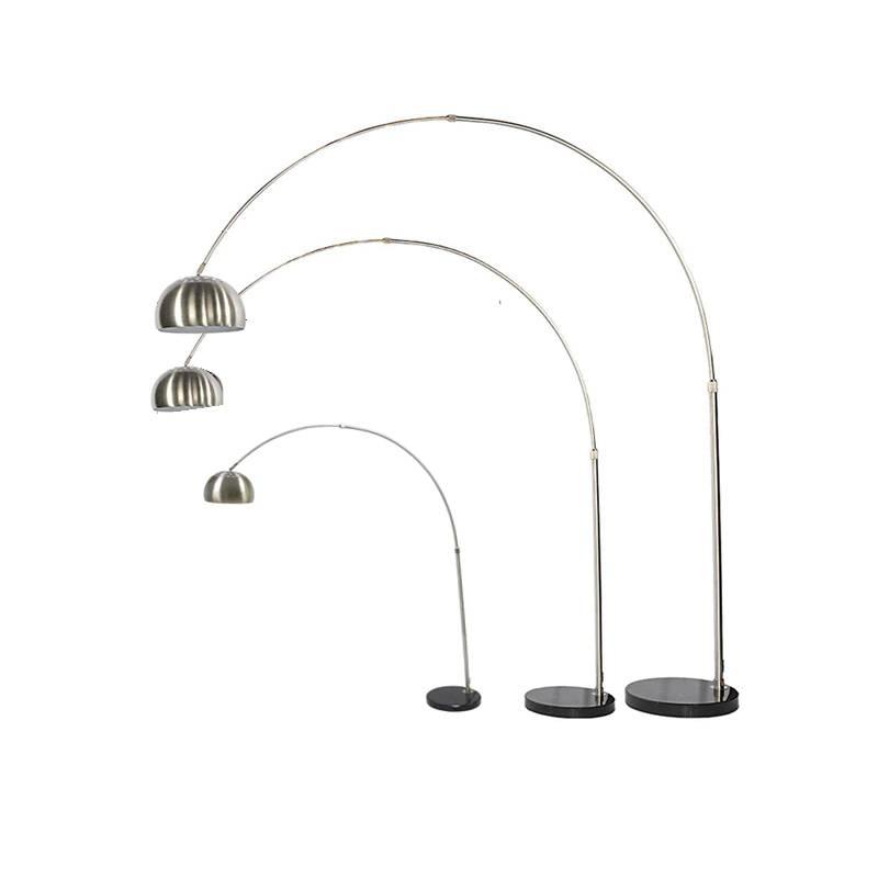 Modern Fishing Floor Lamp Stainless steel chrome lampshade floor lamp Living Room reading bedroom office standing lamp E27 bulb