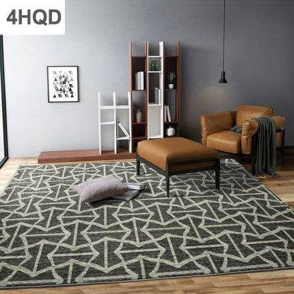 Modern minimalist abstract ink sofa coffee table rug geometry home Nordic style bedroom wool bed blanket Europe and America