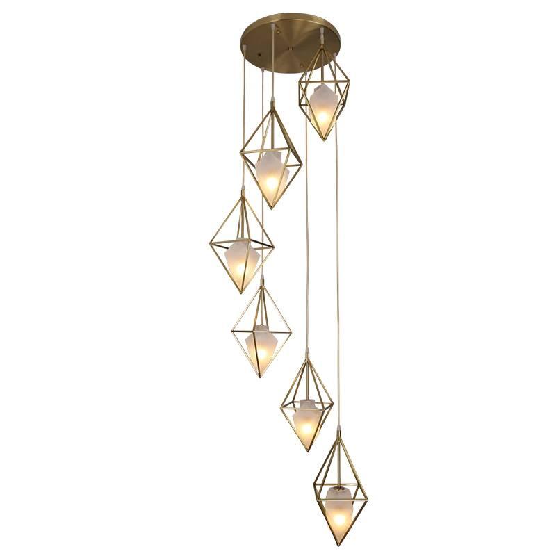 Modern Simple full Copper pendant light 1/3 head Bedroom Dining study Living Room hanging lamp Luxury Home droplight 3W E14 bulb