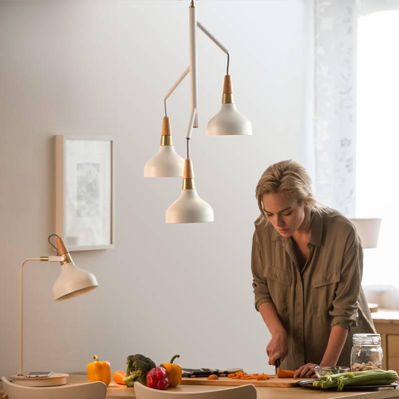 Nordic Dining Room Lights Kitchen Fixtures Modern Style Creative Suspension Luminaire white Iron Pendant Lamp Home Lighting
