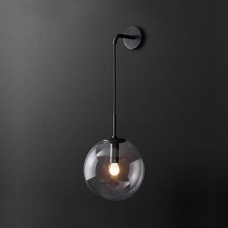 Nordic Modern LED Glass Ball Bathroom Mirror Beside Wall Lamps American  Wall Sconce Wandlamp Decorate Wall Light Fixtures