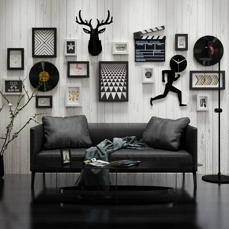 Nordic Photo Wall Decoration Living Room Photo Frame Wall Simple Creative Photo Frame Combination Wall Decoration