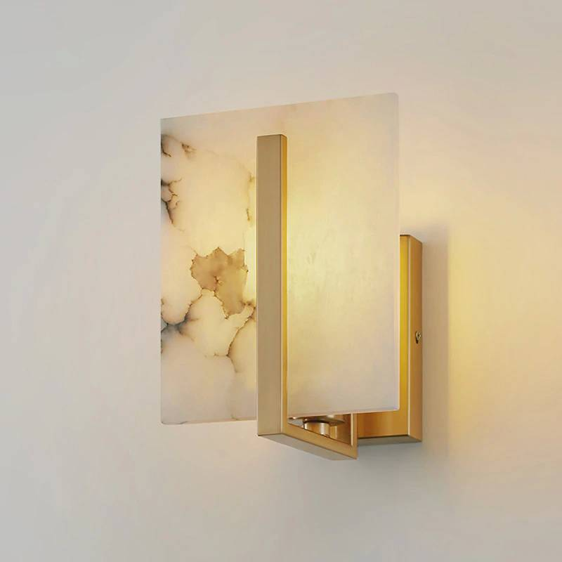 Post Modern Light Luxury Full Copper Wall Lamp American Simple Living Room Study Bedroom Villa Designers Like Real Marble Lamps