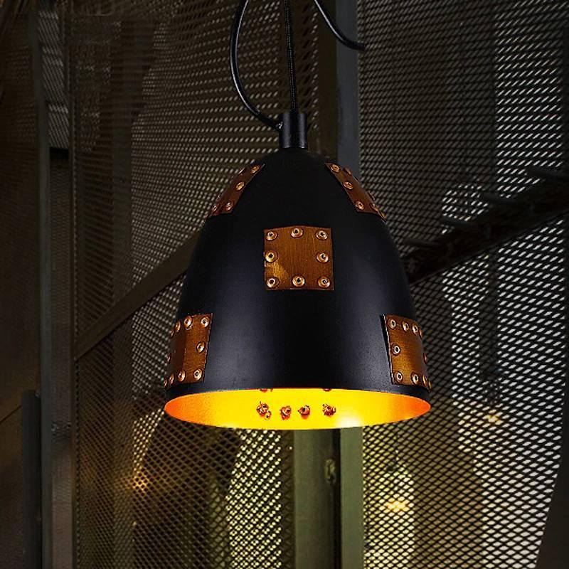 Copper rivet Technics pendant  light 20*38 cm industrial lighting restaurant hanging lamps cafe/bar/Loft light fixture