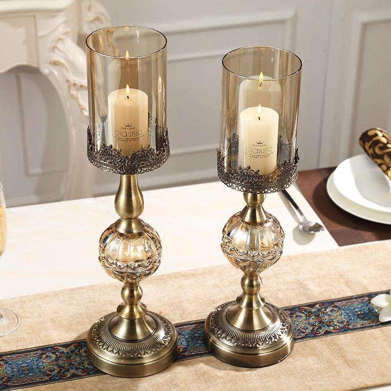 Fairy Tale Shop Candelabro Candeliere Leggero Creativo Tavolo da Casa Romantico Cena A Lume di Candela Puntelli Portacandele in Stile Europeo-L