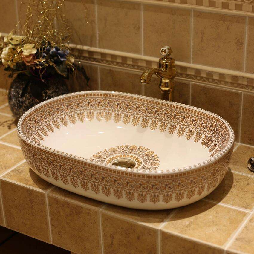 Luxury Artistic Handmade Europe Vintage, Artistic Bathroom Sinks