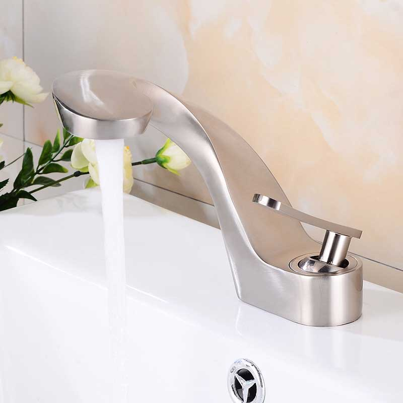 Details about  /Modern Creative Antique Black Bathroom Sink Faucet Brass Single Hole Basin Tap