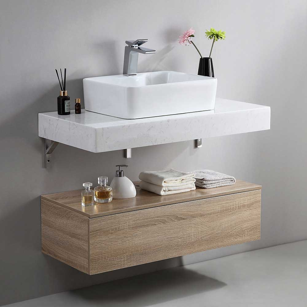 Floating vanity for small spaces